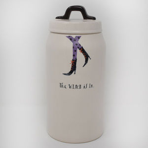 Rae Dunn The Witch Is In Canister & Lid New